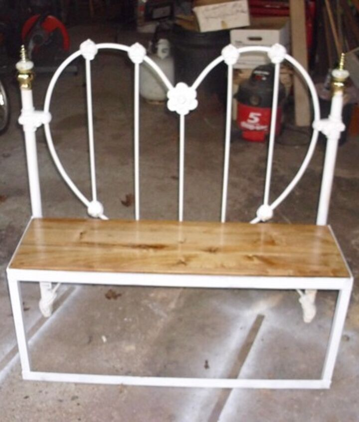bench made from old headboard, painted furniture, repurposing upcycling, woodworking projects