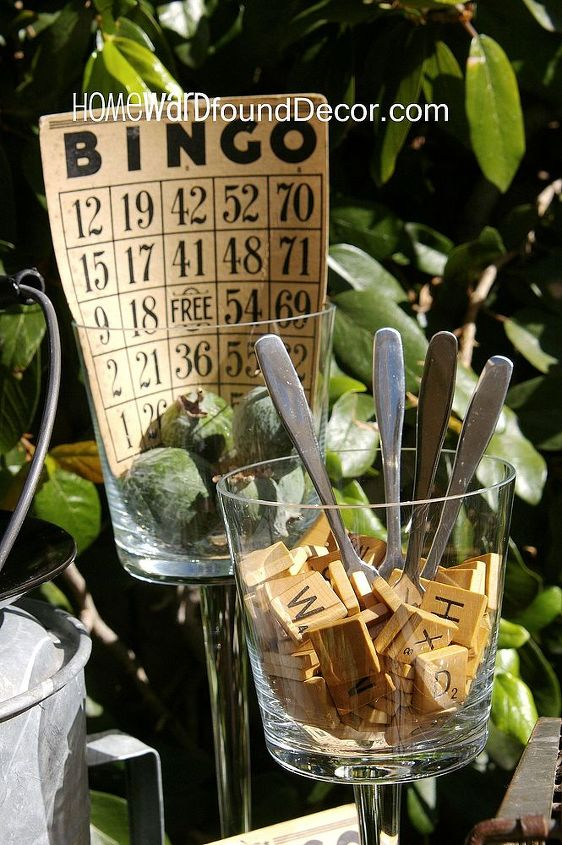 play around with your thanksgiving table decor, seasonal holiday d cor, thanksgiving decorations, Scrabble letter tiles in a clear footed votive holder hold cheese knives at an appetizer buffet