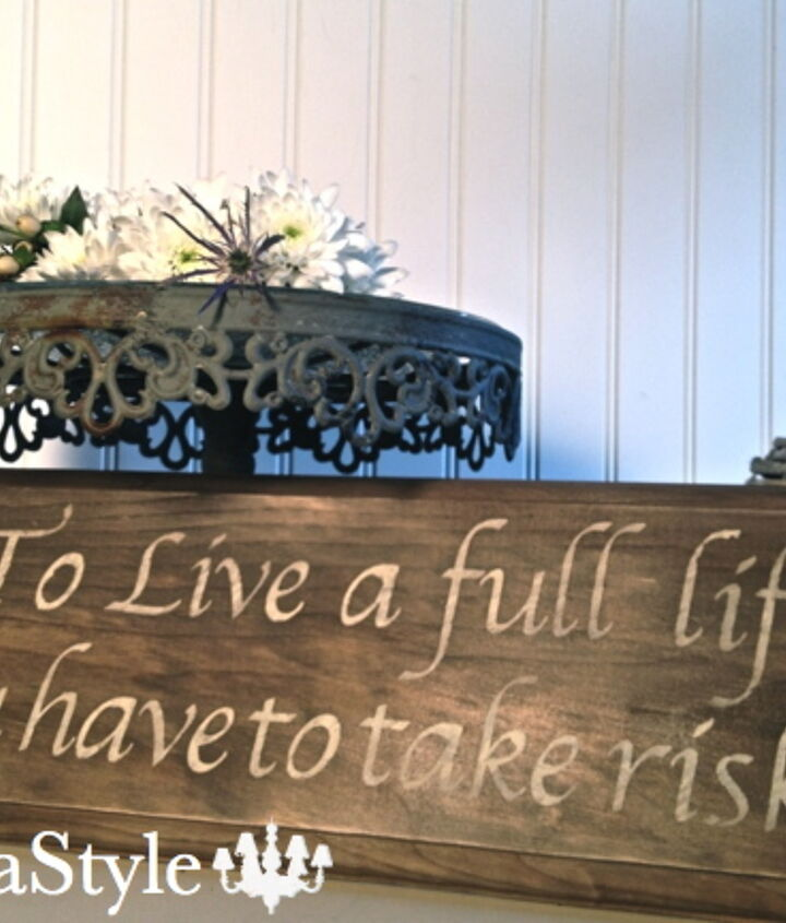 Sign made with new aged barn wood.