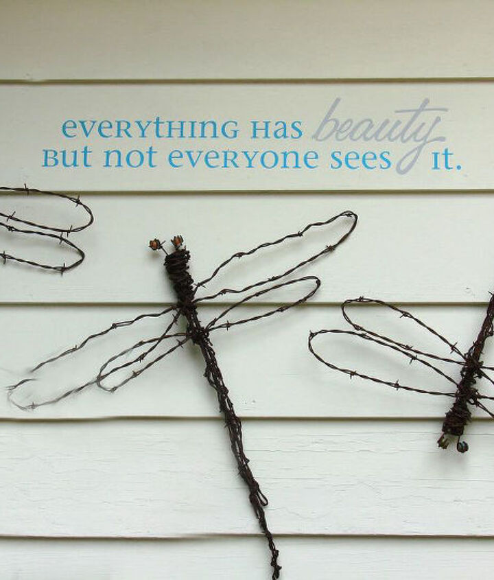 Barbed wire dragonflies