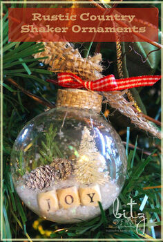 diy rustic country shaker ornaments, christmas decorations, crafts, seasonal holiday decor, DIY Rustic Country Shaker Ornaments