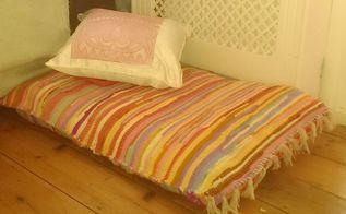 easy peasy floor cushion diy, crafts, make a big floor cushion