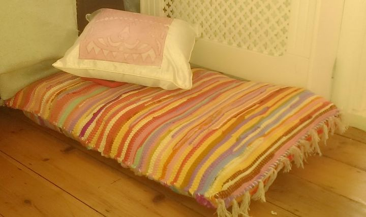make a big floor cushion
