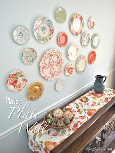 Plastic Plate Wall Home Decor Plates Add A Pop
