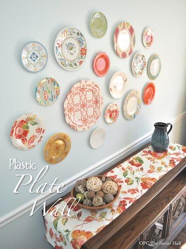 Plastic Plate Wall Home Decor Plates Add A Pop