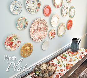 plastic plate wall home decor wall decor Plastic Plates add a pop a & Plastic Plate Wall Hack   Hometalk