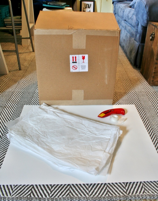diy photography light box, crafts, Gather a big cardboard box tissue paper poster board box cutter and tape