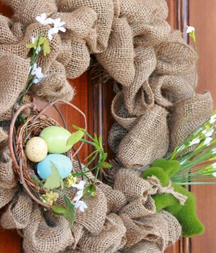 easiest spring burlap wreath, seasonal holiday d cor, wreaths