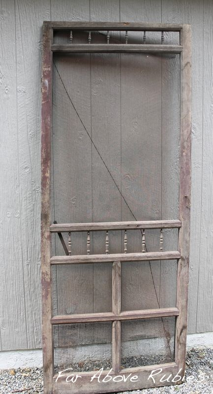 repurposed vintage screen door, doors, home decor - Repurposed Vintage Screen Door Hometalk