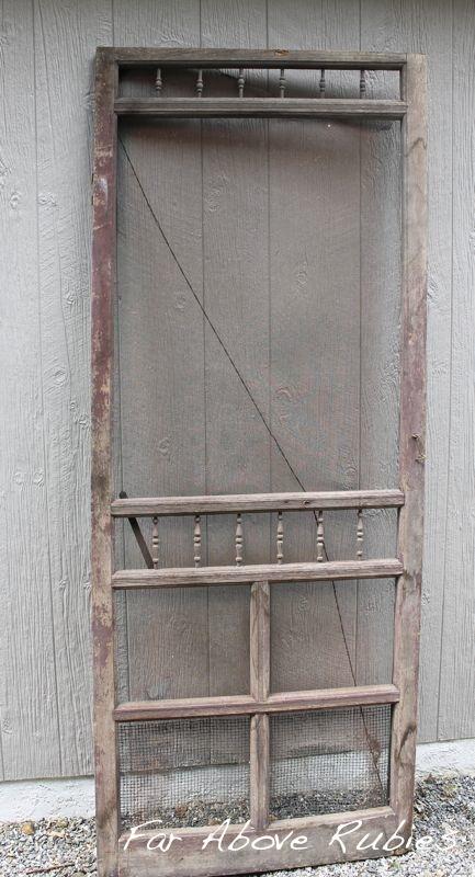 repurposed vintage screen door, doors, home decor - Repurposed Vintage Screen Door Hometalk