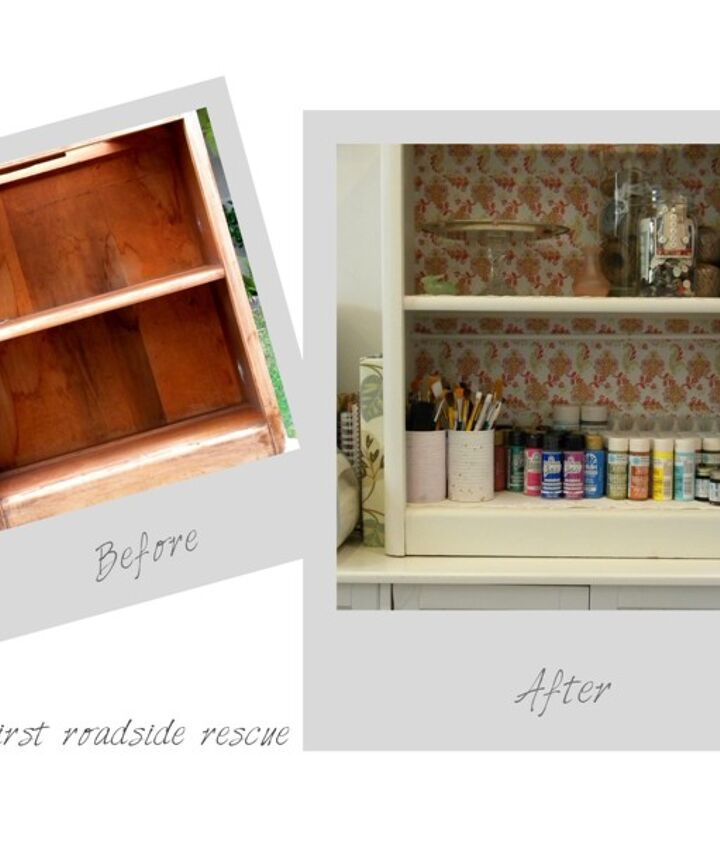 my first roadside rescue makeover, painted furniture