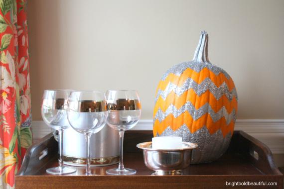 how to make a chevron pumpkin, crafts, halloween decorations, seasonal holiday decor