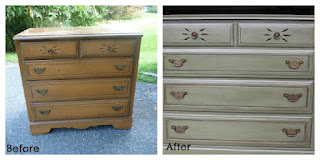 first attempt at glazing furniture, painted furniture