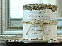 This could be used for holding office supplies or at a wedding or shower as centerpieces.