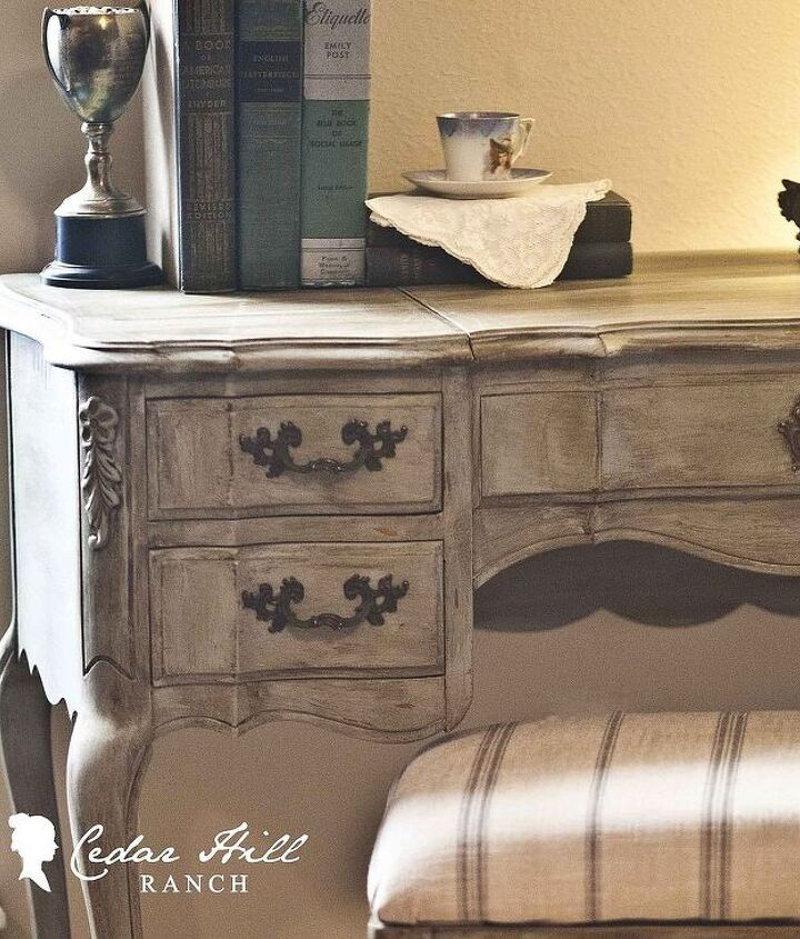 Close-up of French vanity