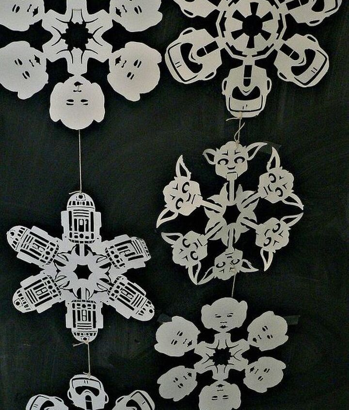 star wars snowflakes, christmas decorations, crafts, seasonal holiday decor