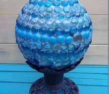 marble gazing ball, crafts