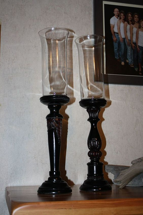 wooden candle sticks, crafts, home decor, painting, repurposing upcycling