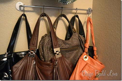 5 purse storage solution hometalk for Hooks to hang purses