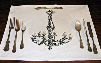 chandelier place mats, crafts, Chandelier Place Mats I did a no sew version