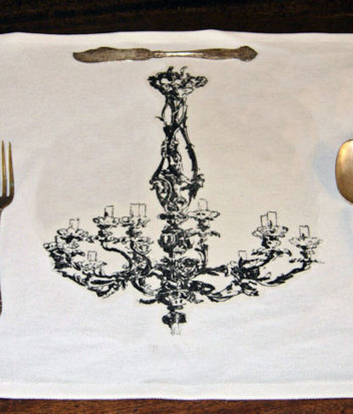 Chandelier Place Mats. I did a no sew version.