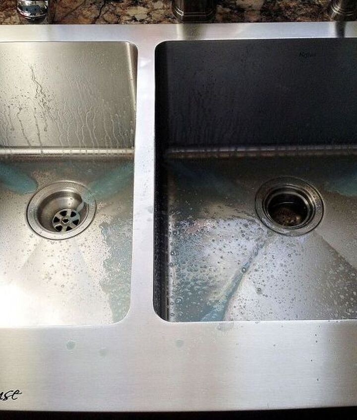 First, clean your sink really good, rinse and dry.