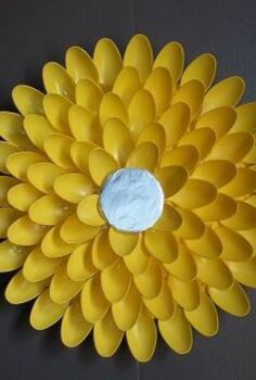 diy plastic spoon flower, crafts