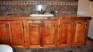q when did veneer come into play with furniture i have an old dresser that is, painted furniture, lacewood vanity