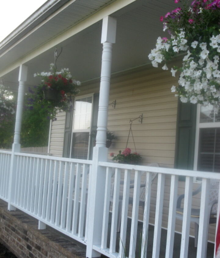 the porch above the pond