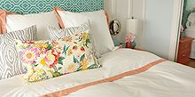 turquoise and coral master bedroom refresh, bedroom ideas, home decor, paint colors, wall decor, woodworking projects