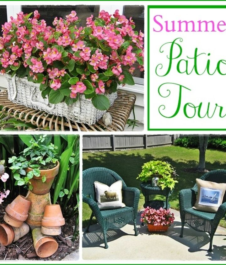 My little patio all dressed for summer