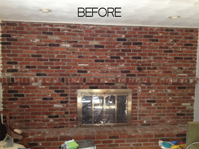How to paint an old brick fireplace hometalk for Diy brick floor