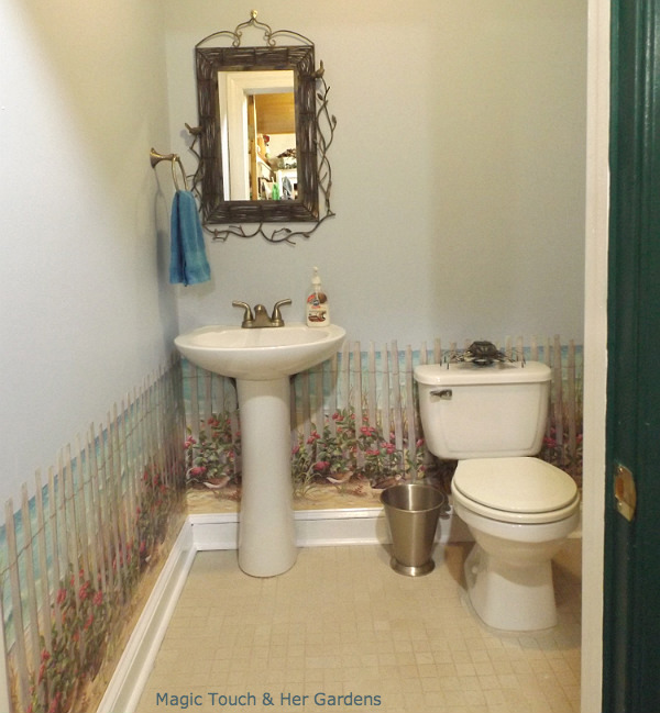 Powder Room After...go to http://magictouchandhergardens.wordpress.com/2013/09/22/magic-touch-her-powder-room/for more pics...