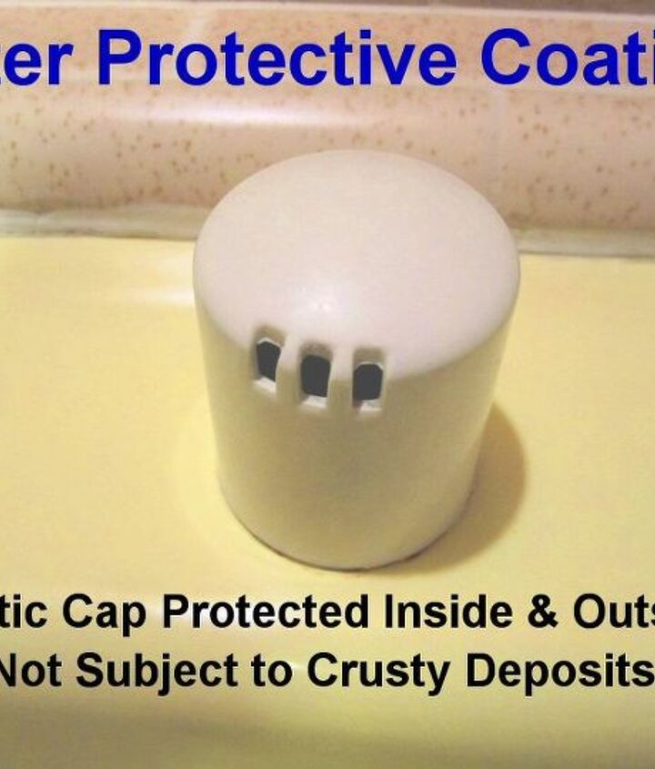 After Protective Coating: I coated the inside and outside of the dishwasher overflow cap with Self-Cleen ST3 to protect if from hard water, mold & mildew.