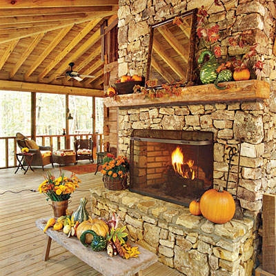 40 inspiring decorating ideas for the perfect thanksgiving fireplace mantel, fireplaces mantels, living room ideas, seasonal holiday decor, thanksgiving decorations