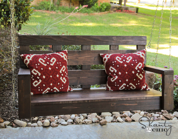 diy wood porch swing, diy, outdoor living, woodworking projects