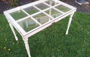 repurposed window, repurposing upcycling, A window table for my family room