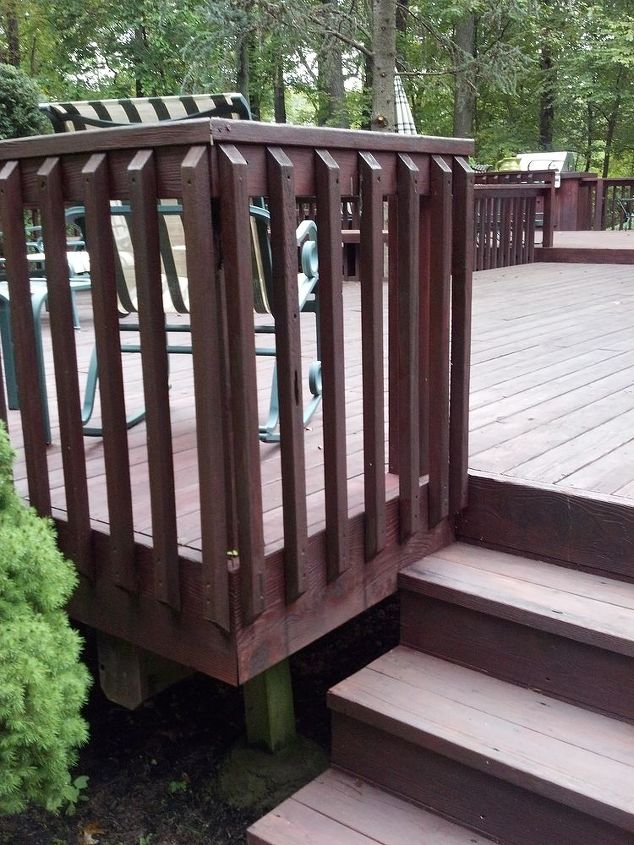 Answer 1997, did you guess it right? How about close? 15 year old STK cedar deck. Has a little rot in the decking, but 98% still looks great.