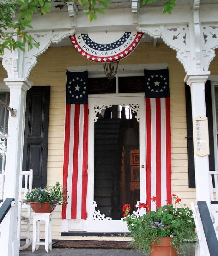 A patriotic welcome at the Fairfield House.