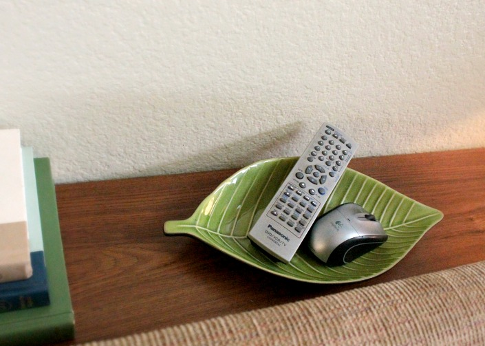 Great place for remotes and electronics.