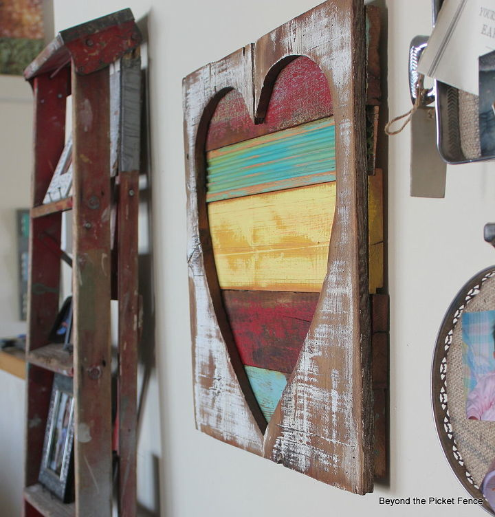 reclaimed wood heart art, crafts, home decor, repurposing upcycling, seasonal holiday decor, woodworking projects