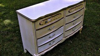 painted pieces, painted furniture, The Bonnett French provincial dresser Before Wish I could find the after image at this moment But it is on my Facebook home page upper left hand corner donna allgaierlamberti facebook com Look for the deep blue dresser
