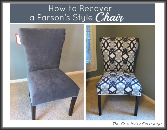 How To Recover A Parsons Style Chair Reupholster I Purchased Winged