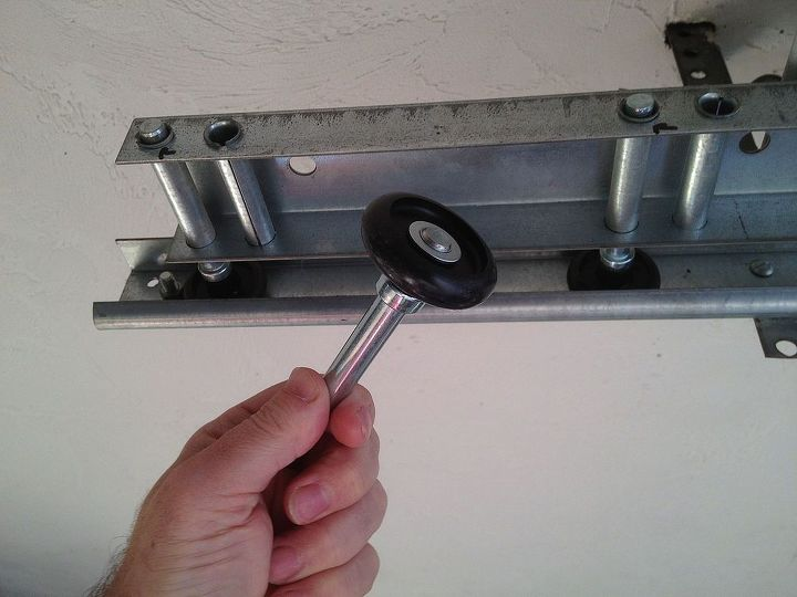 Replace old garage door rollers if they sound like an agitated R2D2 (You know, the little white and blue robot from Star Wars)