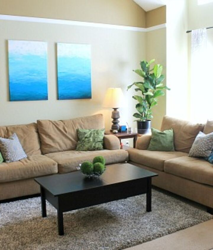 I'm so happy how these give a much needed pop of color to my very neutral living room!
