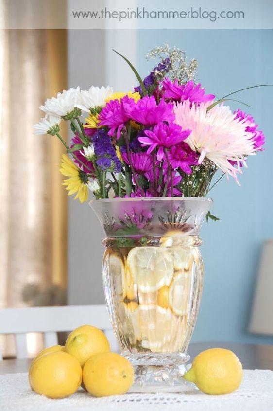 diy lemon floral arrangement, crafts, DIY lemon floral arrangement
