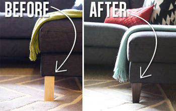 ikea hack replacing the legs of an ikea couch, painted furniture