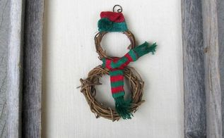 simple snowman diy christmas ornament, christmas decorations, crafts, seasonal holiday decor