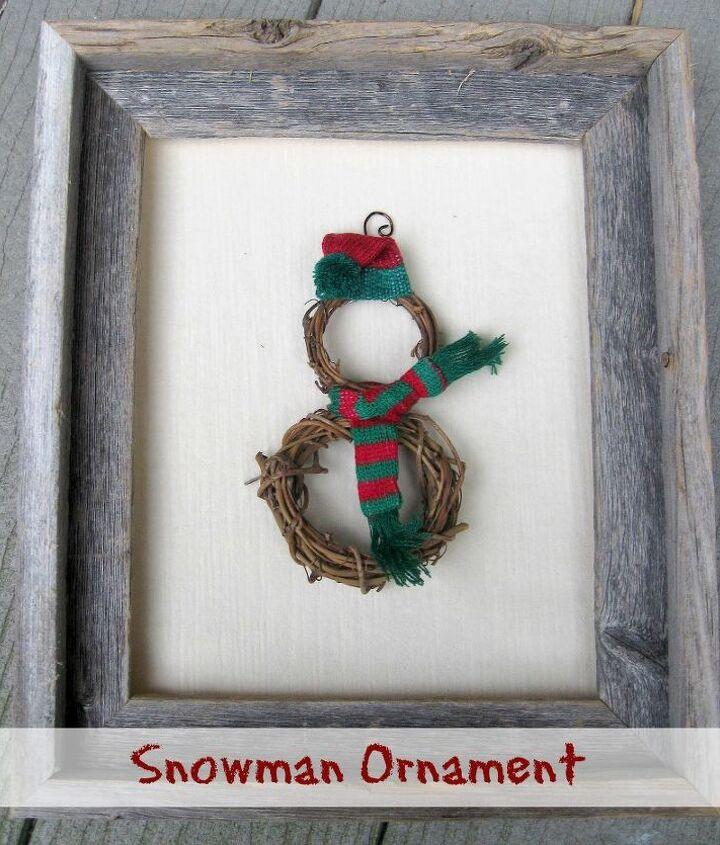 simple snowman diy christmas ornament, christmas decorations, crafts, seasonal holiday decor