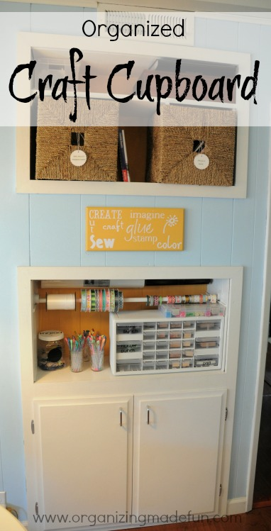 my organized craft cupboard, kitchen cabinets, organizing, My Organized Craft Cupboard